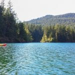 Kayaking Mountain Lake on Orcas Island